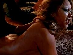 Asian pornstar gets a big black cock up her cunt in this interracial sex clip