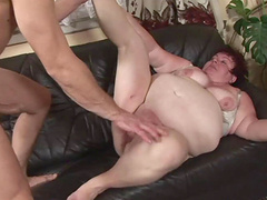 Dirty mature wife spreads her legs to be fucked in her wet cunt