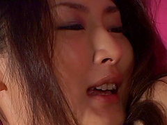Risa Murakami giving dick blowjob till the he cums in her mouth