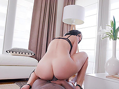 Massive black cock destroys mouth, pussy and ass of Eloa Lombard