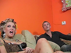 Black dick lover Candy Monroe fucked in front on her husband
