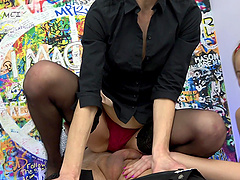 Mature slut Martina shares her lover's cock with Vinan Reed