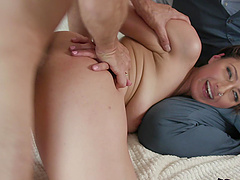 Rough fucking in the morning with sexy wife Bella Rolland - Cuckold
