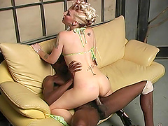 Interracial fucking in front of a cuckold husband - Candy Monroe