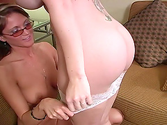 Melanie Malone and Spring Thomas share one large black dick