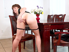 Amateur video of mature wife Rebecca Love playing with her pussy