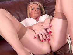 Homemade amateur video of busty wife Alexia Blue fingering herself