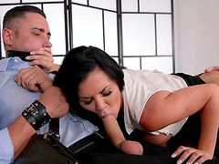 Pierced clit hottie Jasmine Jae gets ass fucked by a stud