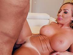 Black man licks and fucks wet pussy of seductive MILF Richelle Ryan
