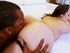 Incredible interracial sex with large ass brunette Alycia Starr