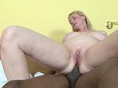 Two mature sluts Monika and Meri enjoy having interracial anal sex