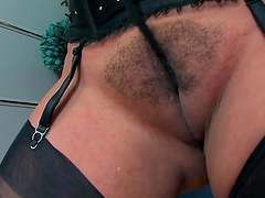 Naughty wife Danica Collins spreads her ass cheeks and masturbates